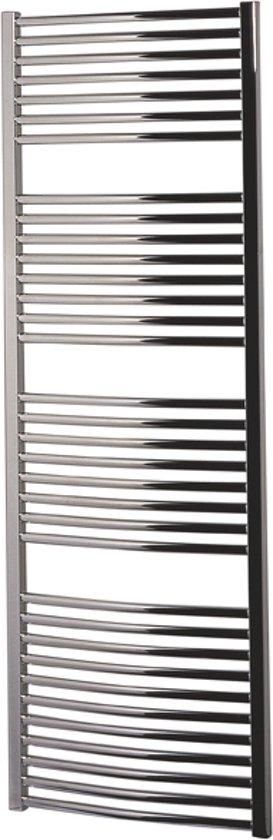 Handdoekradiator multirail curved staal chroom 68,8x75cm 342 watt - Eastbrook Biava