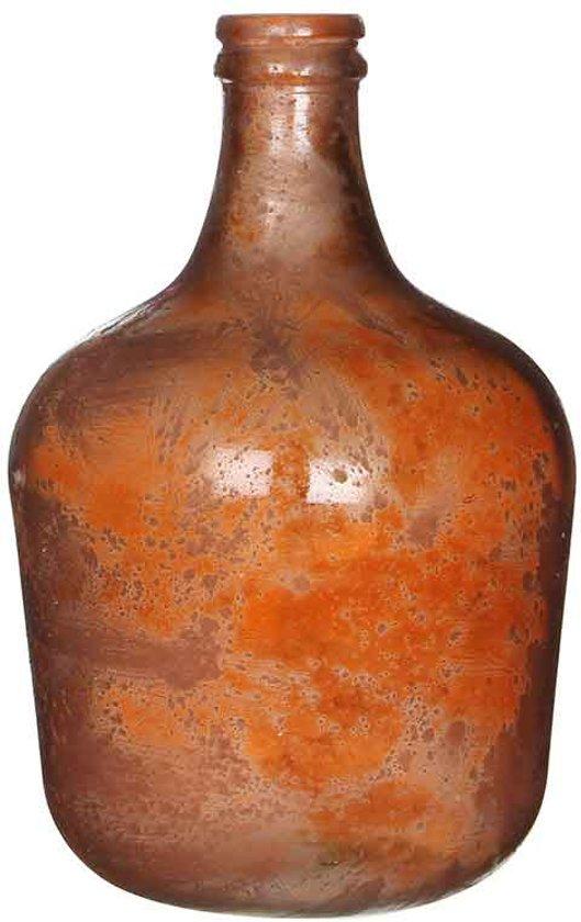Mica Decorations - diego glazen fles terra - maat in cm: 42 x 27