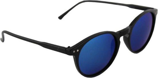 5c6d755f8c14e6 Zonnebril Rond Polariserend Glas Zwart Blauw GRATIS Brillenkoker