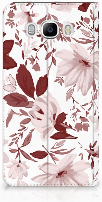 Samsung Galaxy J7 2016 Uniek Standcase Hoesje Watercolor Flowers