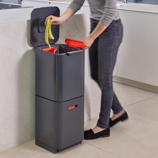 Joseph Joseph Intelligent Waste Totem 40 liter Donkergrijs