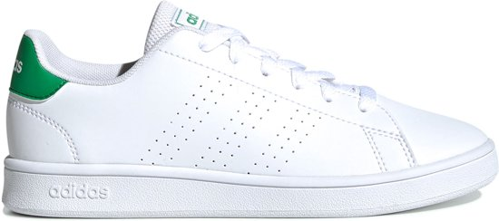adidas Advantage K Jongens Sneakers Ftwr WhiteGreenGrey Two F17 Maat 36