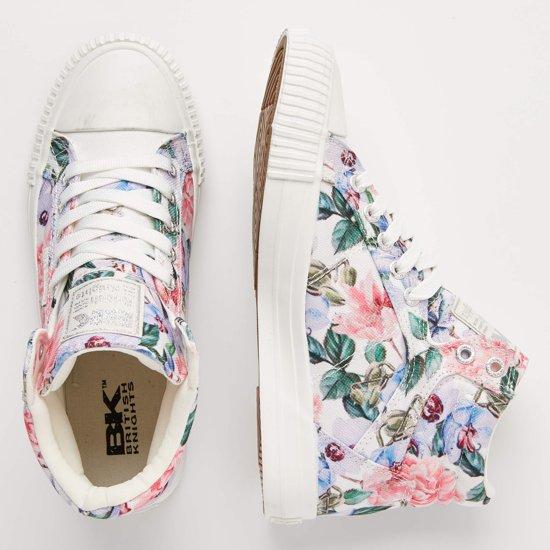 Sneakers 42 Dames Dee Lila Hoog Knights Bloemen Maat British BwqfStn