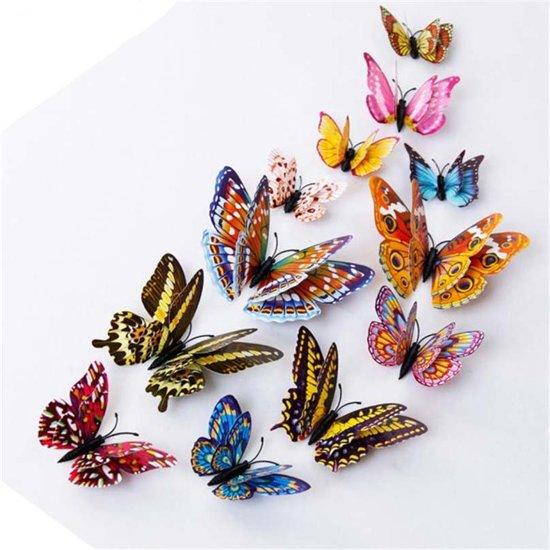 Uitzonderlijk bol.com | 12x Glow in the Dark kleurige 3D Vlinders met magneet en #JA21