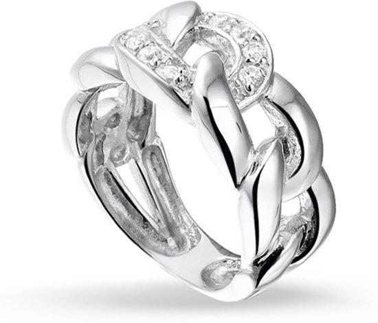 Silventi 943281919 60 Zilveren Ring - met Zirkonia - Link - Zilverkleurig