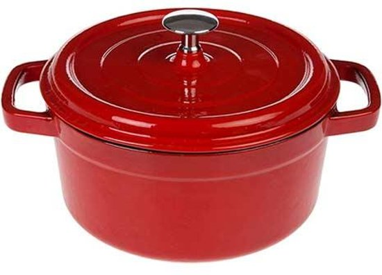 Gietijzeren braadpan rood, 28cm - Sürel