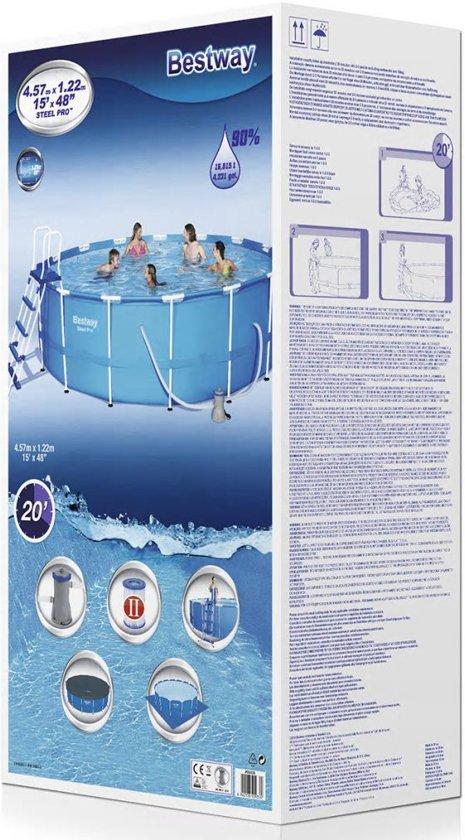 Bestway Steel Pro zwembad stalen frame rond 457x122 cm 56438
