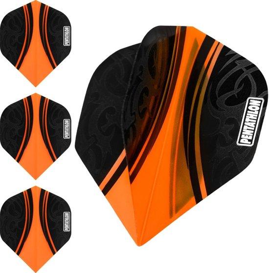 Dart flights  10 sets pentathlon tribal oranje