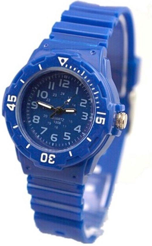 Leuk sportief kinderhorloge - Rubber - Blauw - Ø 30 mm