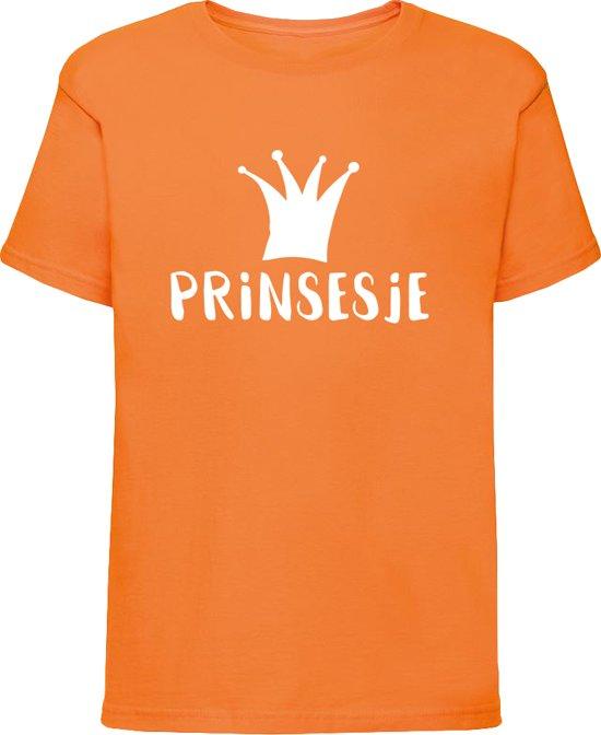 Oranje shirt Koningsdag | Prinsesje | Maat 122-128