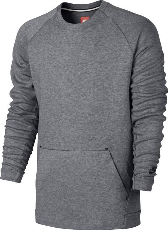 add7ec2c1c6 Nike Sportswear Tech Fleece Crew LS Sporttrui Heren - Carbon Heather/(Black)