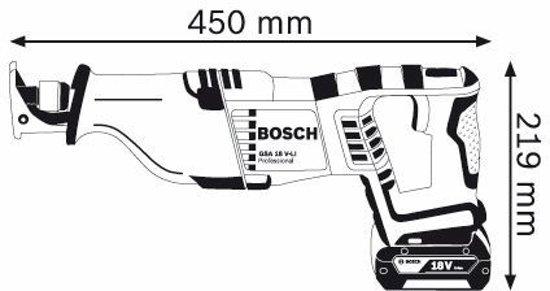 GSA 18 V-Li accu reciprozaag | 4.0Ah Li-Ion | in L-BOXX