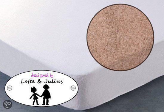 Lotte & Julius Dreamzzz hoeslaken badstof 90x200cm zand
