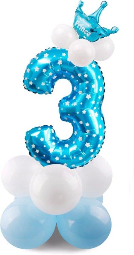 Bol Com 3 Jaar Ballonnen Set 3 Jaar Jongen Verjaardag Baby