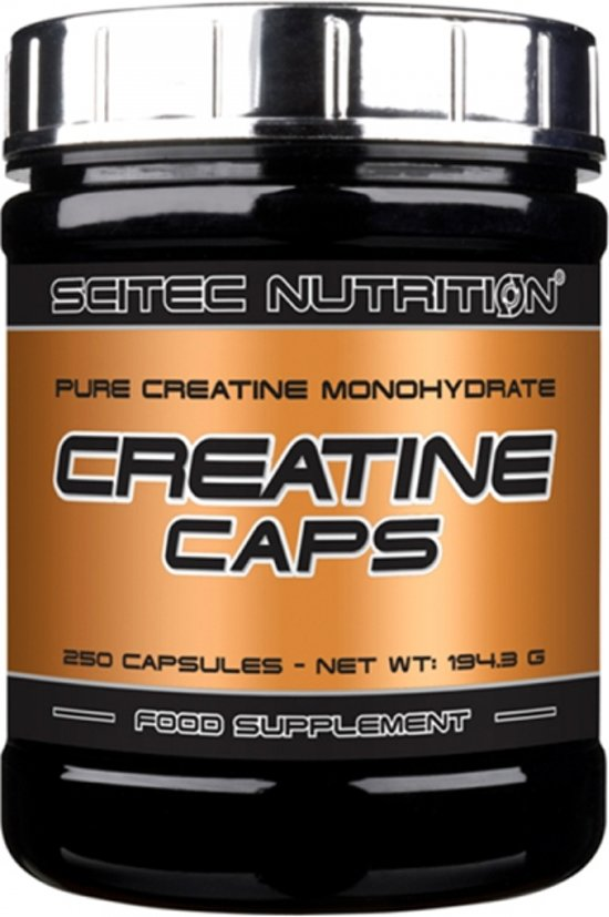 Scitec Nutrition - Creatine Caps - Pure Creatine Monohydrate - 250 caps - 83 porties