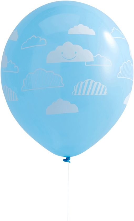 Ginger Ray Flying High - babyshower ballon Ø 28 cm - blauw - Set-10 Valentinaa