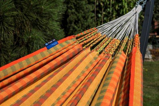 Potenza Grande Curcuma-stabiele en duurzame hangmatset 2 personen / tweepersoons hangmat met standaard uit Colombia (grafiet)