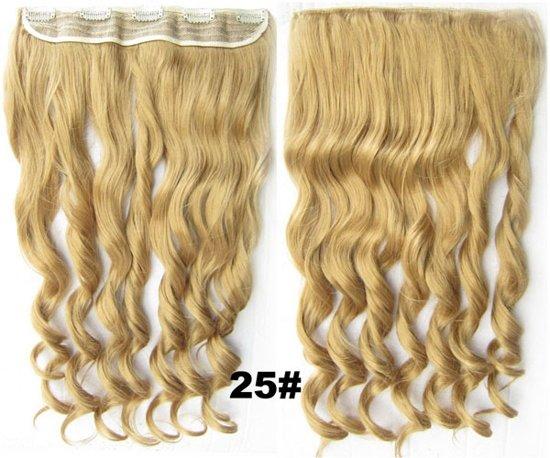 Clip in hair extensions 1 baan wavy blond - 25#