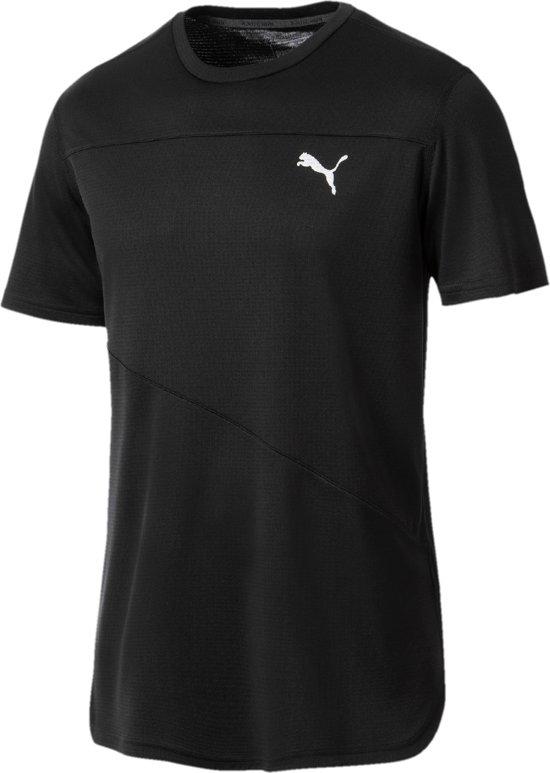 PUMA Ignite S/S Tee Mono Sportshirt Heren - PUMA Black