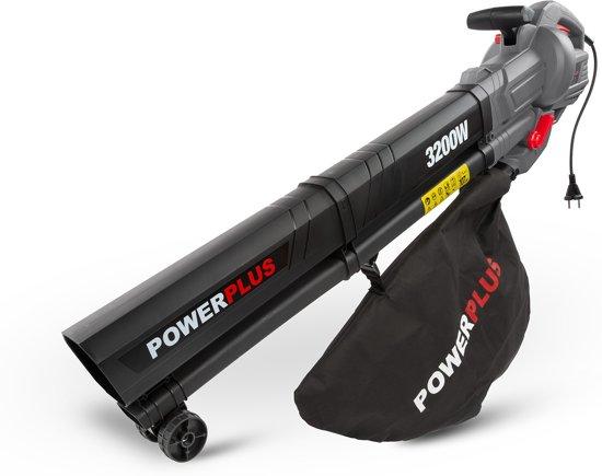 Powerplus POWEG9012 Bladblazer - 3200W - blazen/zuigen/versnipperen - met 40L opvangzak