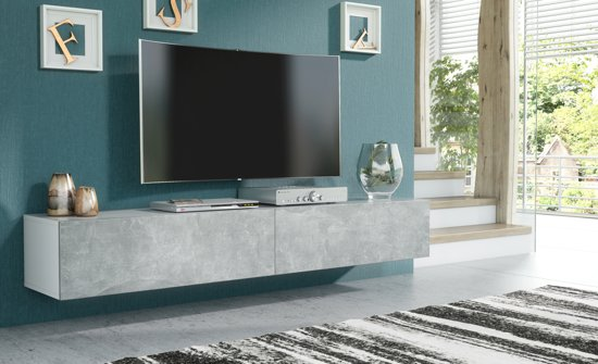Tv Meubel En Kast.Bol Com Pro Meubels Tv Meubel Tv Kast Tunis Wit