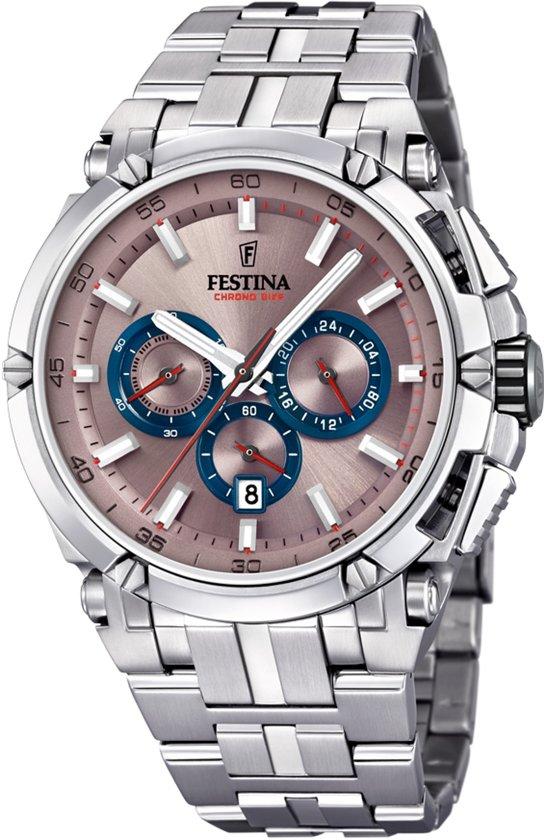 Festina F20327/5 horloge heren - zilver - edelstaal
