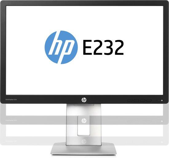"""HP EliteDisplay E232 IPS 23"""" Zwart Full HD Matt"""