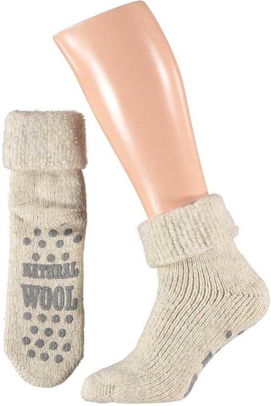7ba1aab5e6f Wollen huis sokken voor mannen wit mt 39-42