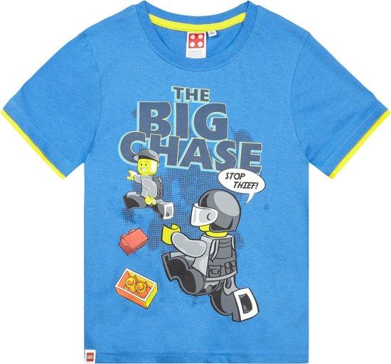 Lego City Jongens T-shirt - blauw - Maat 116