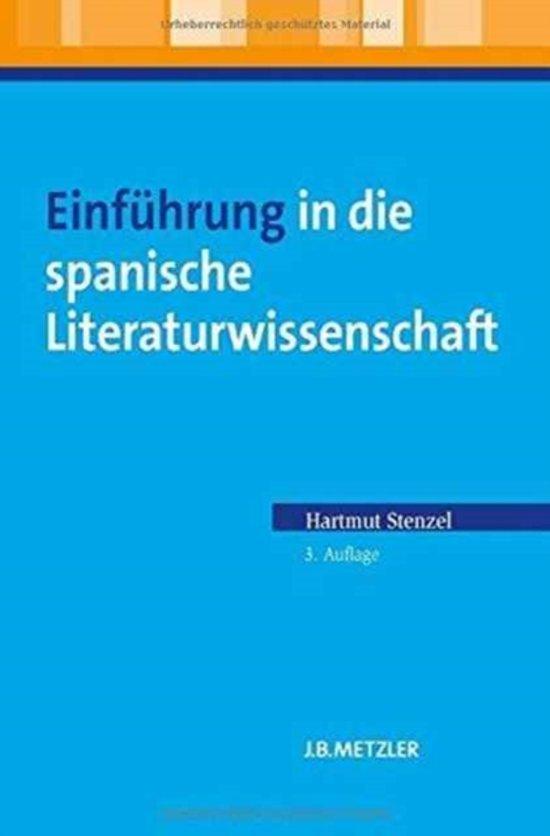 Einf hrung in Die Spanische Literaturwissenschaft