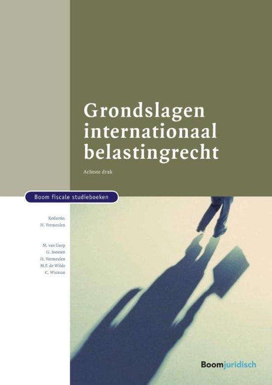 Boom fiscale studieboeken Grondslagen internationaal belastingrecht