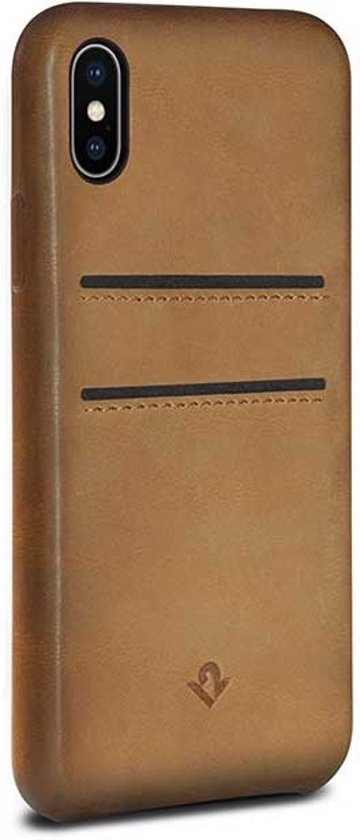 Twelve South Relaxed Leather w/pockets for iPhone X (cognac)