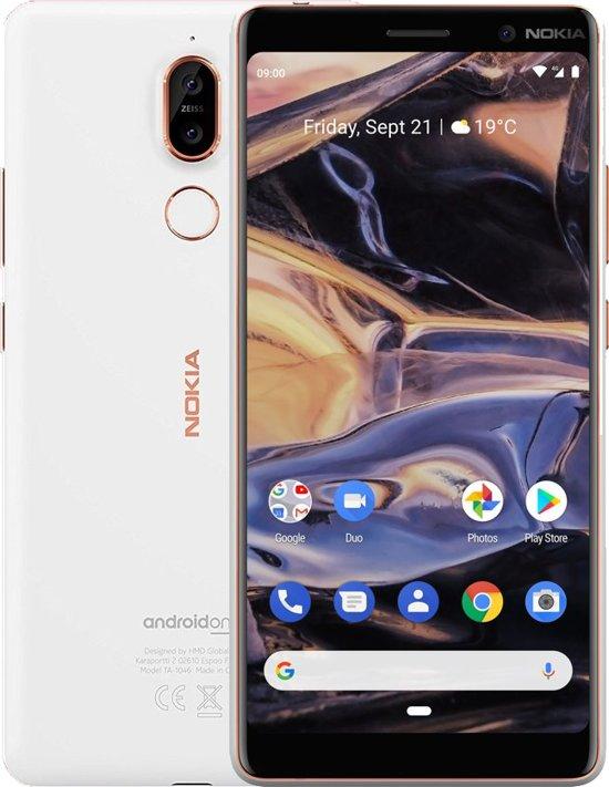 Nokia 7 Plus - 64GB - Dual Sim - Wit/Koper