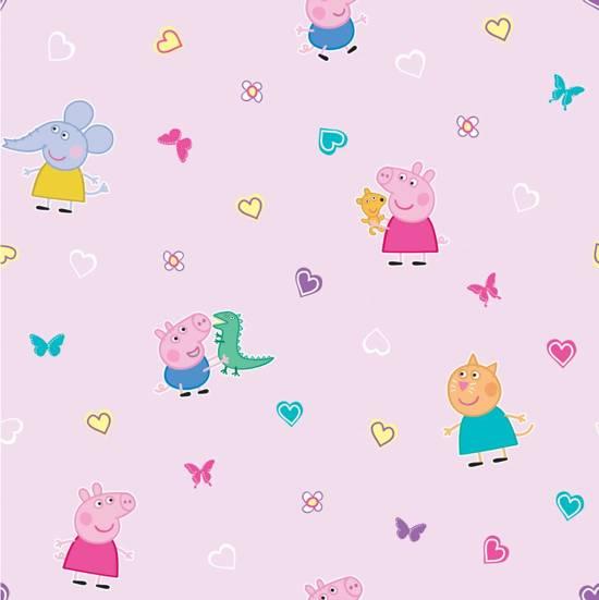 Peppa Pig - Behang Rol - 10 meter x 53 cm - Multi
