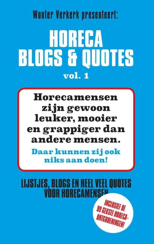 Bolcom Horeca Blogs En Quotes 1 Horeca Blogs En Quotes 1