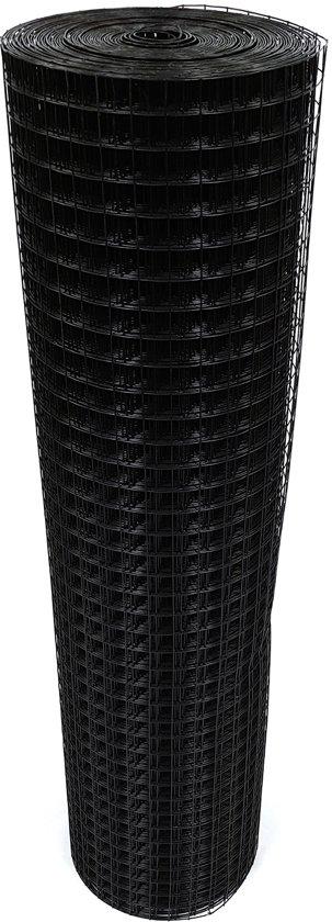 volieregaas 25 x 25mm 1.45mm 100cm x 10m zwart