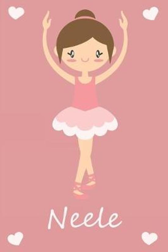 Neele: modernes personalisiertes Ballerina Schreibheft / Notizbuch / Tagebuch - viele Vornamen verf�gbar - 100 Seiten - linie