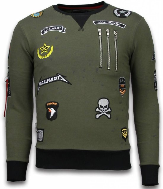 Local Fanatic Exclusief Basic Embroidery - Sweater Patches - Groen - Maten: M