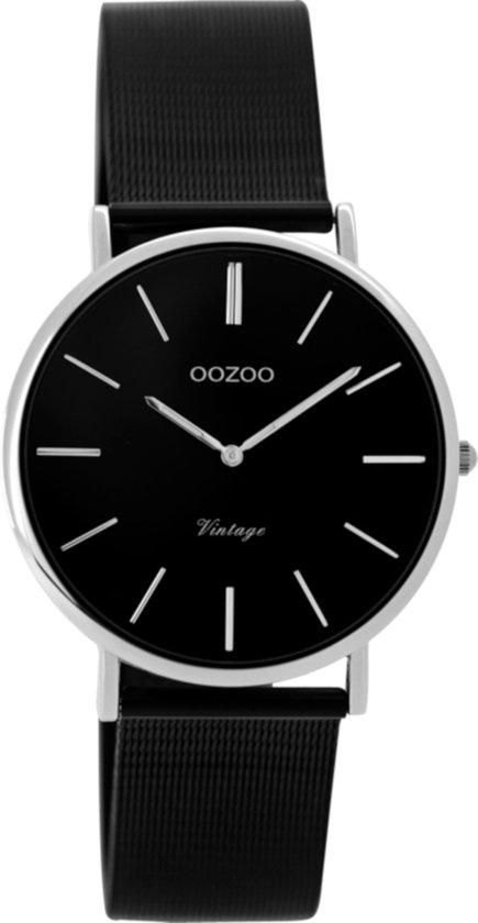 Oozoo Vintage C8867 Horloge Zwart Staal 32mm
