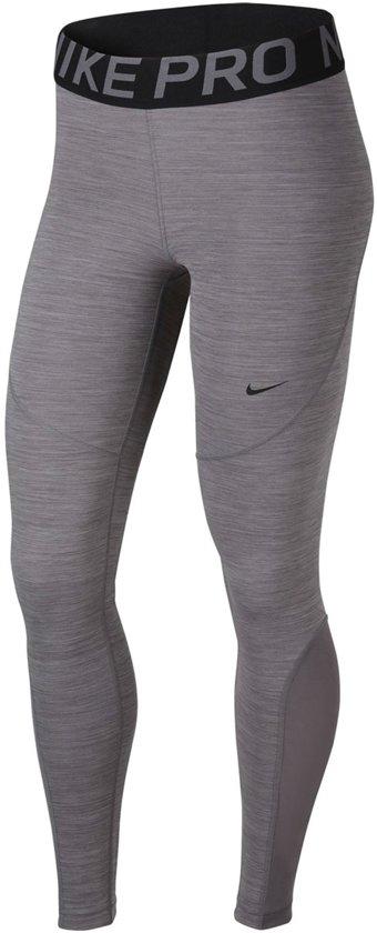 19c517c4c2f bol.com | Nike Pro Sportbroek - Maat S - Vrouwen - grijs/zwart