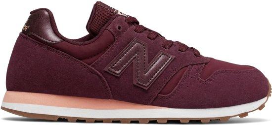 new balance dames 373 classics running leer grijs roze sneakers