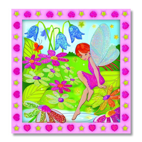 Melissa & Doug - Peel & Press Sticker by Number - Flower Garden Fairy