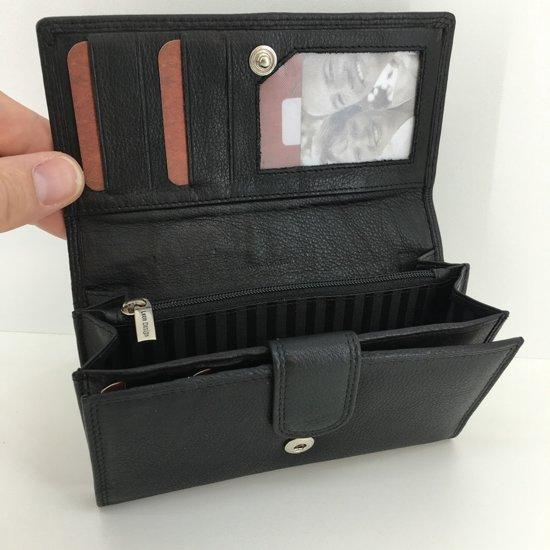 d7e8422d177 bol.com | LeonDesign - 16-W201-04 - portemonnee - zwart - leer