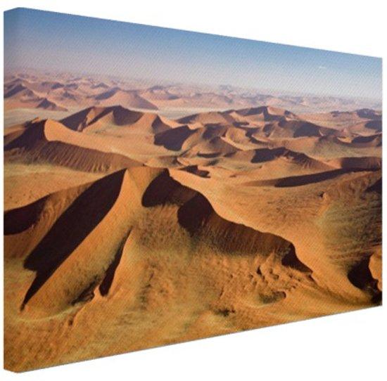 Namibie Woestijn Canvas 120x80 cm - Foto print op Canvas schilderij (Wanddecoratie)