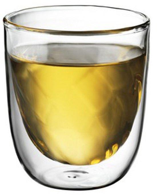 QDO Elements - Koffie- en theeglazen - Set van 2 Dubbelwandige Glazen - Fire - 75ml