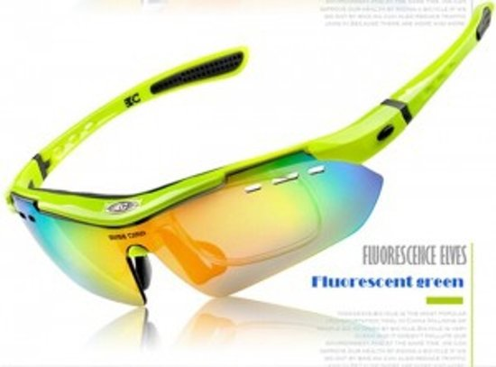 Fietsbril Polarized Inclusief 6 Lezen (Groen)