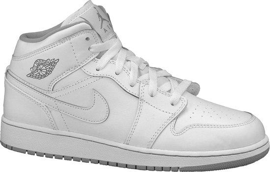 Nike Jordan 1 Mid BG 554725-112, Vrouwen, Wit ... - bol.com
