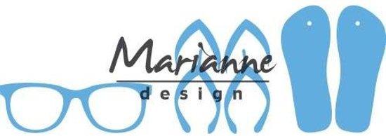 Marianne Design Creatable Mal Flipflops & zonnebril LR0477 8.0x18.5 centimeter