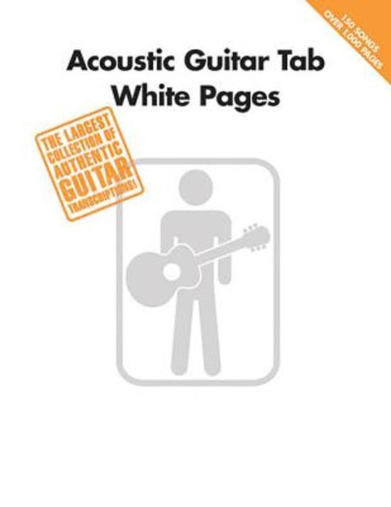 Bol Acoustic Guitar Tab White Pages Hal Leonard