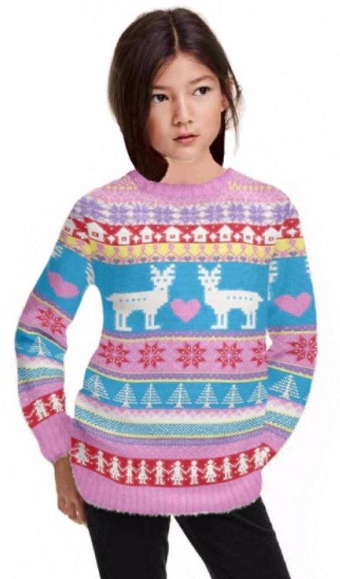 Roze kersttrui voor meisjes 7-8 jaar Valentinaa